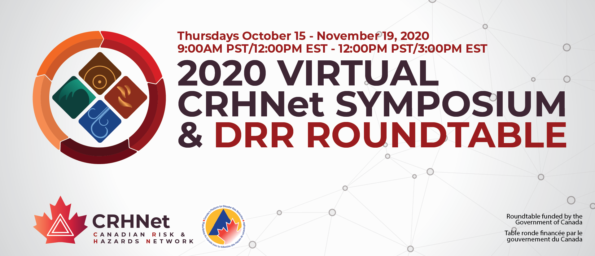 poster for 2020 Virtual CRHNet Symposium & DRR Roundtable