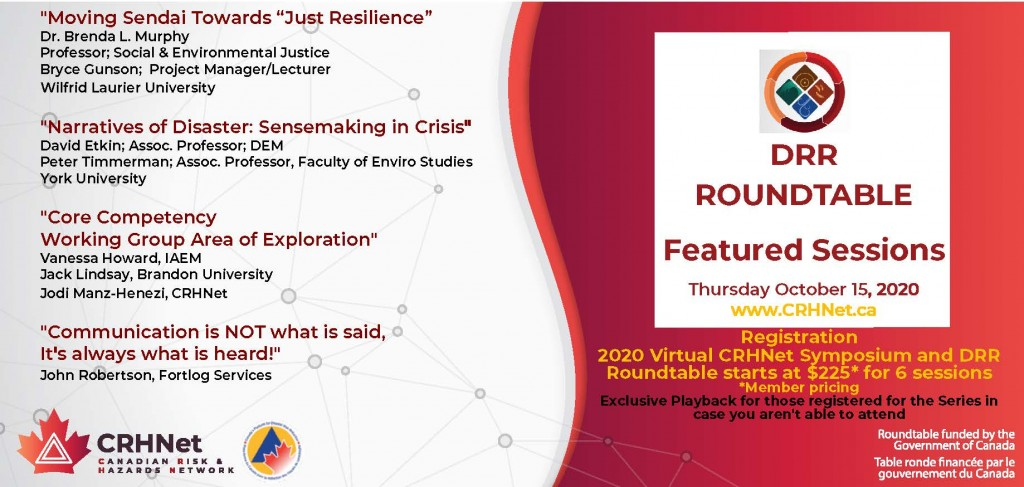 October 15, 2020 – Series Introduction and DRR Roundtable